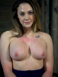Chanel Preston manhandled, Brutally deep throated, bound, crotch roped, pic #13