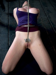 Chanel Preston manhandled, Brutally deep throated, bound, crotch roped, pic #14
