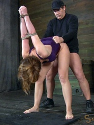 Chanel Preston manhandled, Brutally deep throated, bound, crotch roped, pic #4