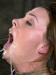 Chanel Preston manhandled, Brutally deep throated, bound, crotch roped, pic #6