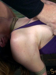 Chanel Preston manhandled, Brutally deep throated, bound, crotch roped, pic #10