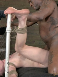 Jessi gets owned by 10 inches of black cock, pic #6