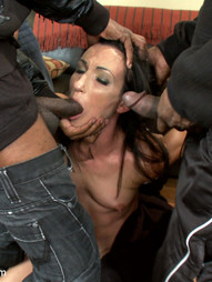 Horny slut orders gang bang delivery, pic #4