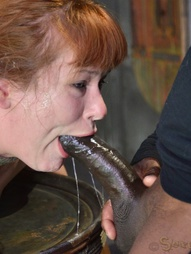 Redheaded bend over a barrel, pic #1