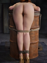 Redheaded bend over a barrel, pic #3
