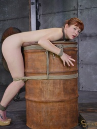 Redheaded bend over a barrel, pic #6