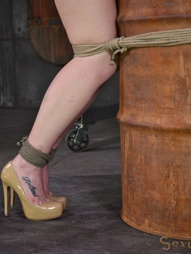 Redheaded bend over a barrel, pic #7