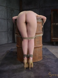 Redheaded bend over a barrel, pic #8