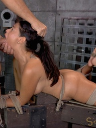 English rose bound down on fucking machine, pic #13