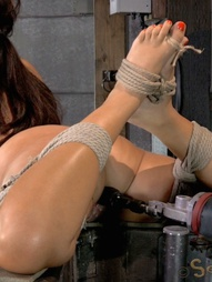 English rose bound down on fucking machine, pic #15