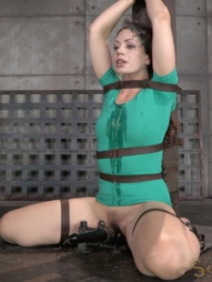 Sarah belted down and throatboarded, pic #15
