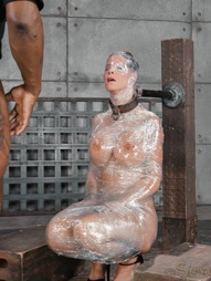 Deepthroat MILF In Plastic Wrap, pic #11