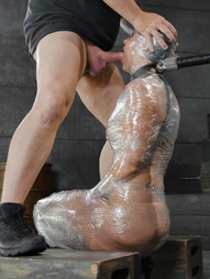 Deepthroat MILF In Plastic Wrap, pic #10
